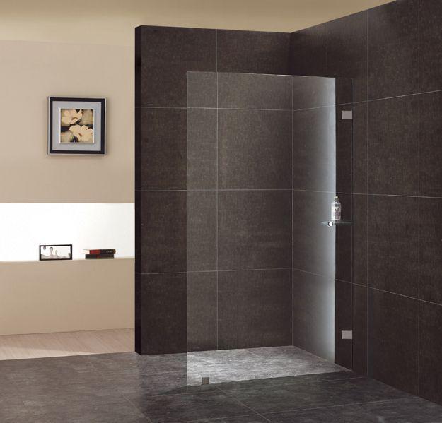 moderne badkamer met grote inloopdouche met glazen wand Book Covers