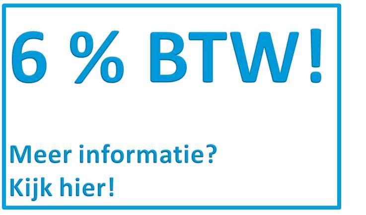 6% BTW op nieuwe kozijnen!