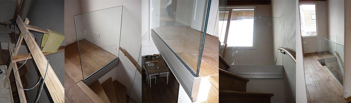 Glazen wanden alhra - Wand trap ...